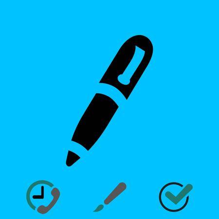 pen icon stock vector illustration flat design Illustration