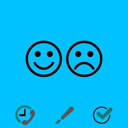 Smile icon stock vector illustration flat design Illustration