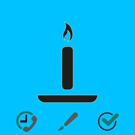 candle icon stock vector illustration flat design