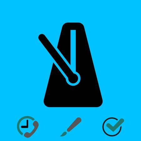 metronome: metronome icon stock vector illustration flat design