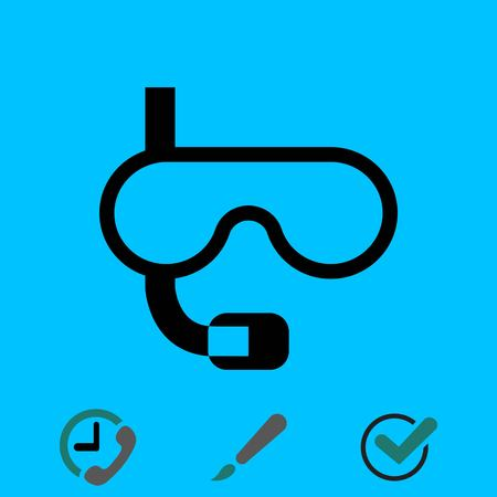underwater Snorkelling icon stock vector illustration flat design
