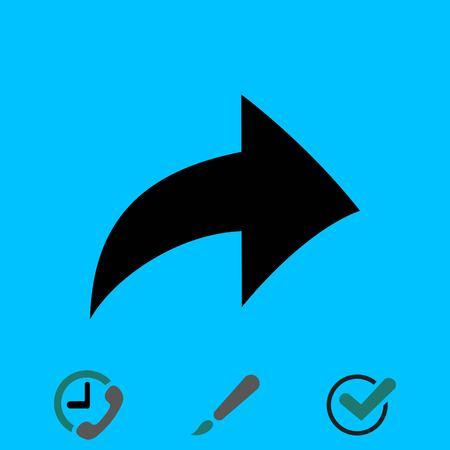 An arrow icon stock vector illustration flat design Illustration