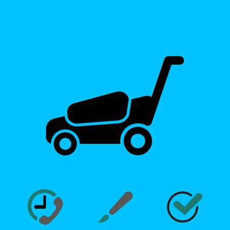 A lawnmower icon stock vector illustration flat design