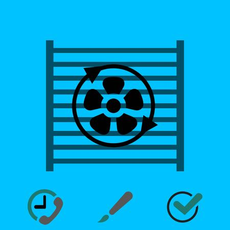 Radiator cooling system icon stock vector illustration flat design.