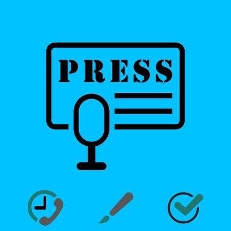 information medium: Press icon stock vector illustration flat design.