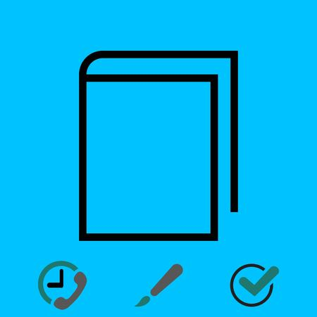 open magazine: Book icon stock vector illustration flat design
