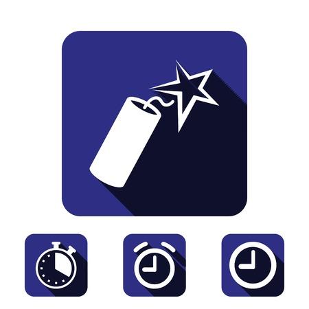 detonate: dynamite icon stock vector illustration flat design