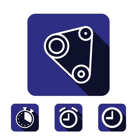 timing belt: Timing belt icon stock vector illustration flat design