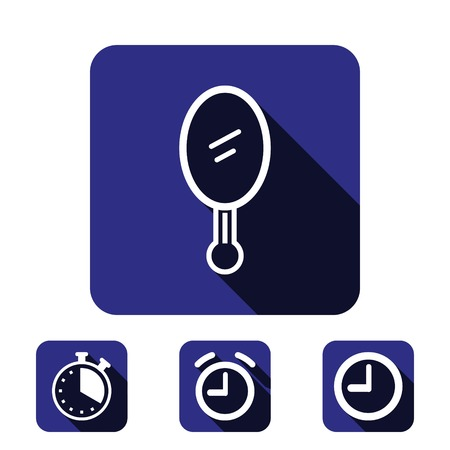 bathroom mirror: mirror icon stock vector illustration flat design