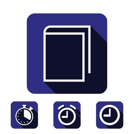 open magazine: book icon stock vector illustration flat design Illustration