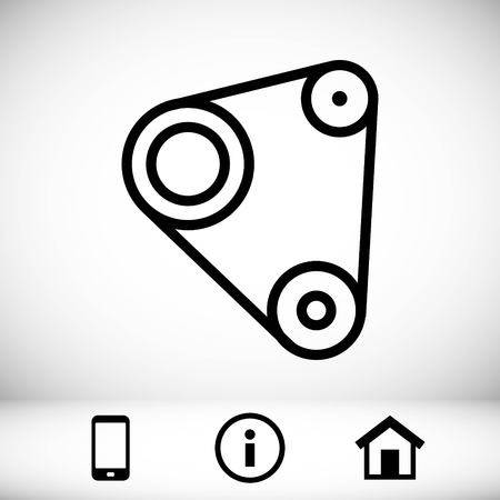 spare: Timing belt icon stock vector illustration flat design