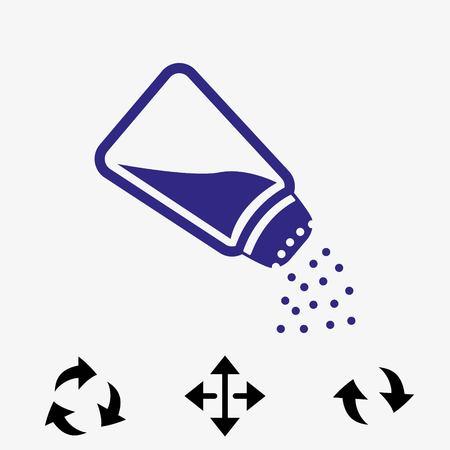 salt free: Icon stock vector illustration flat design style