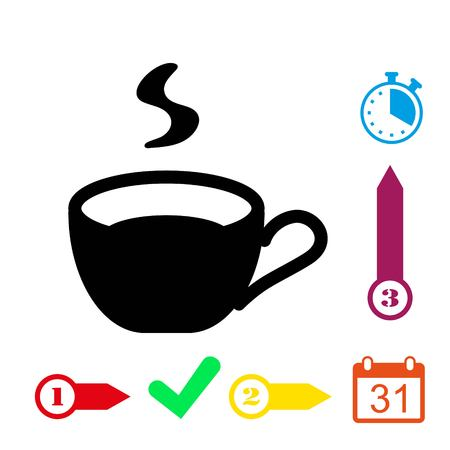 Cup icon stock vector illustration flat design Illustration