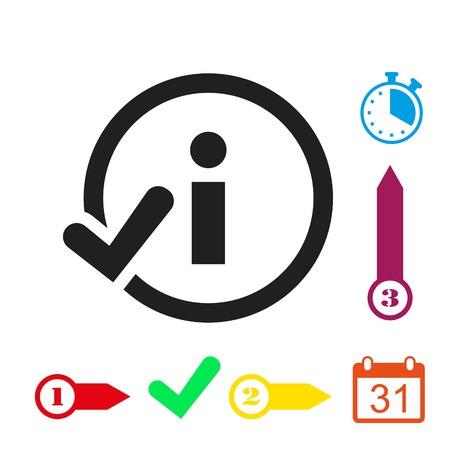 answer: info icon stock vector illustration flat design
