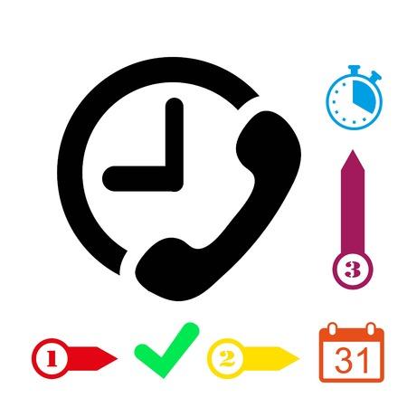 handphone: Phone icon stock vector illustration flat design Illustration