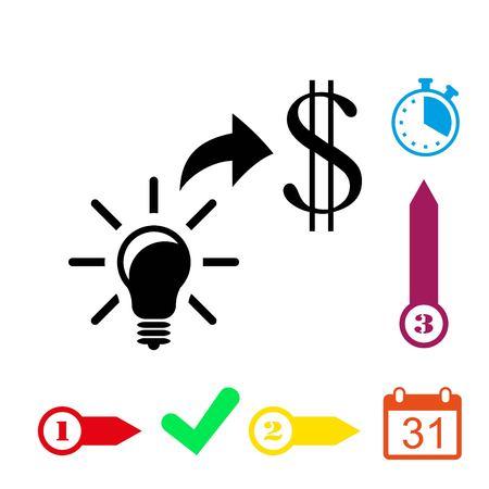 easy money: Good idea moneyicon stock vector illustration flat design