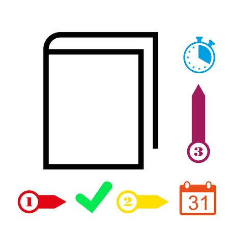 open notebook: book icon stock vector illustration flat design Illustration