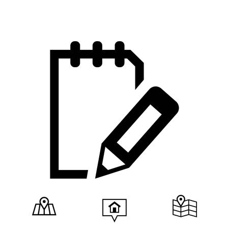 notepad icon stock vector illustration flat design