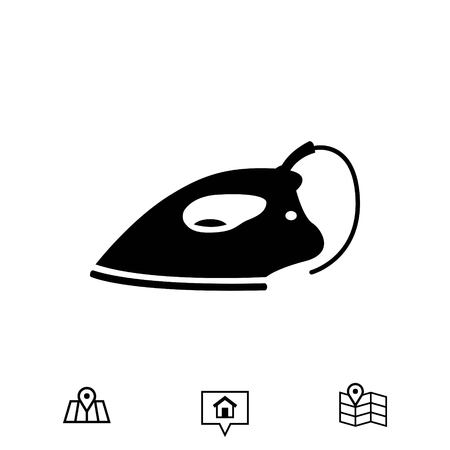 smoothing: electric iron icon stock vector illustration flat design