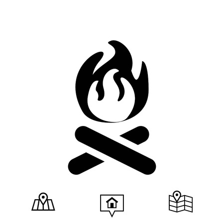 flammable warning: fire icon stock vector illustration flat design Illustration