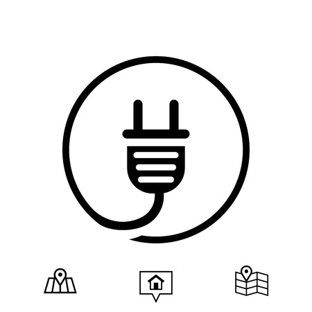 Plug icon stock vector illustration flat design Illustration