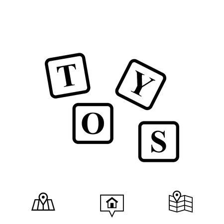 cute bear: Toys icon stock illustration flat design.