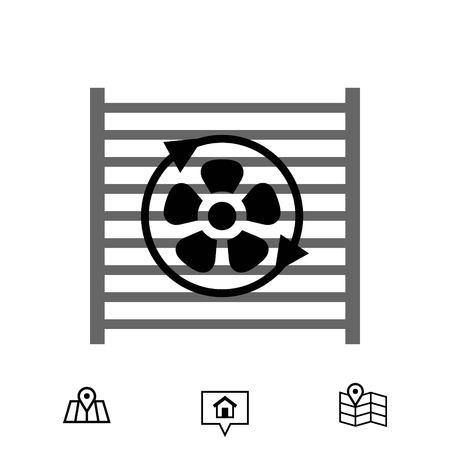 radiator cooling system icon stock vector illustration flat design Illustration
