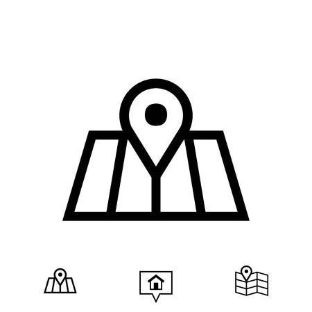 road position: navigation icon stock vector illustration flat design