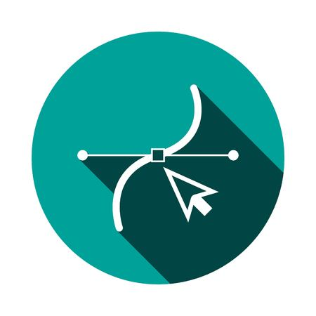 Handle and anchor icon Illustration
