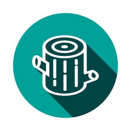 stump icon stock vector illustration flat design