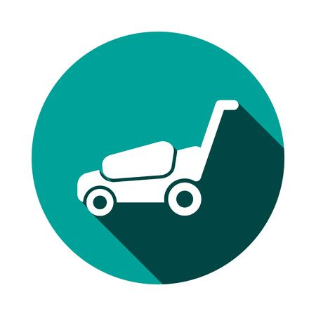 lawnmower icon stock vector illustration flat design Illustration