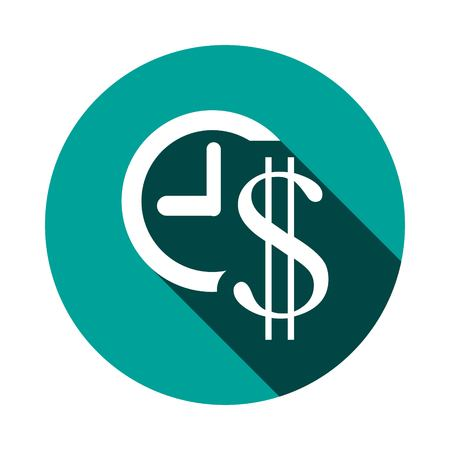 money time icon stock vector illustration flat design Illustration