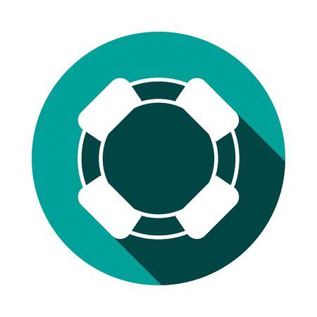 lifeline: lifeline icon stock vector illustration flat design