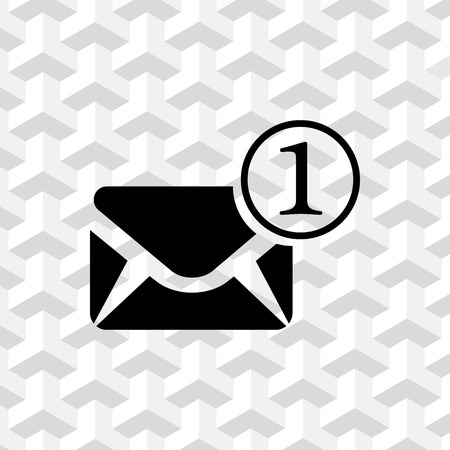 Envelope Mail icon, vector illustration. Flat design style Illustration