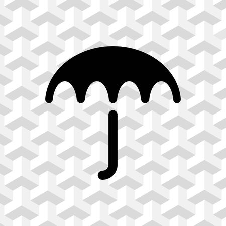 safe water: Umbrella vector icon. Rain protection symbol. Flat design style
