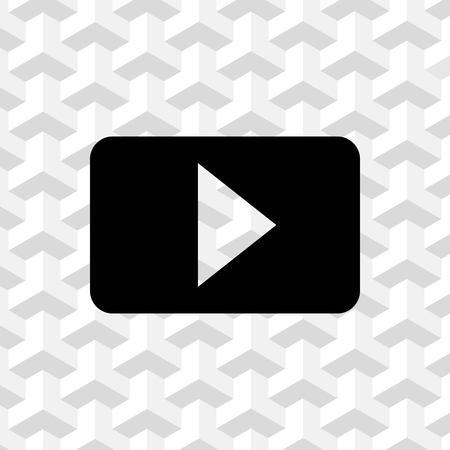 movie film: video icon stock vector illustration flat design Illustration