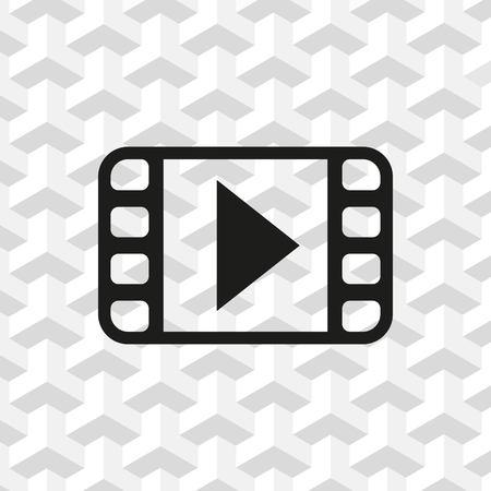 movie film: Video icon stock vector illustration flat design