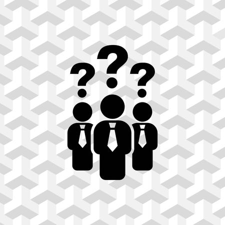 answer: question mark over people icon stock vector illustration