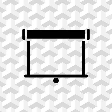 Projector pictogram voorraad vector illustratie plat ontwerp Stock Illustratie