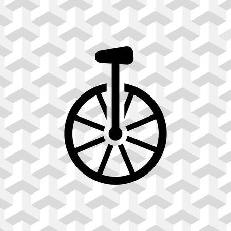 one wheel bike: unicycle icon stock vector illustration flat design