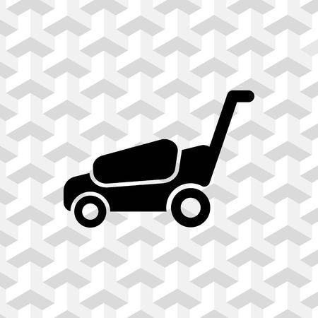lawnmower icon stock vector illustration flat design