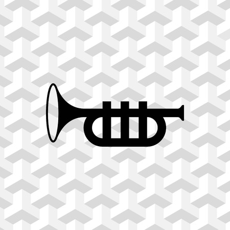 Trumpet icon stock vector illustration flat design Illustration