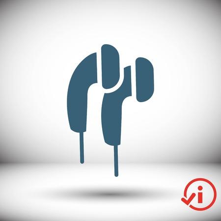 portable audio: icon stock vector illustration flat design style Illustration