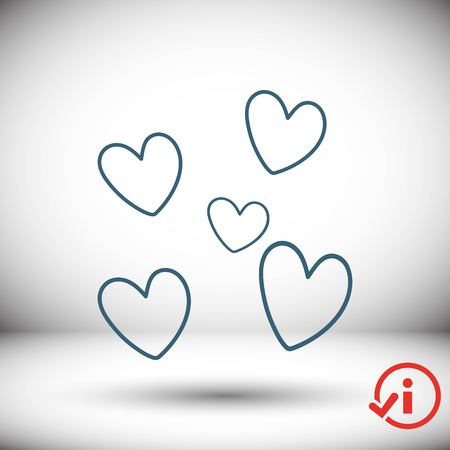 broken love: heart icon stock vector illustration flat design