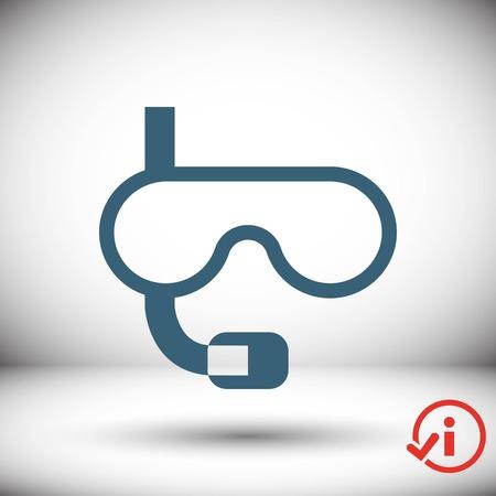 rubber tube: underwater Snorkelling icon stock vector illustration flat design
