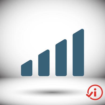 level icon stock vector illustration flat design Illustration