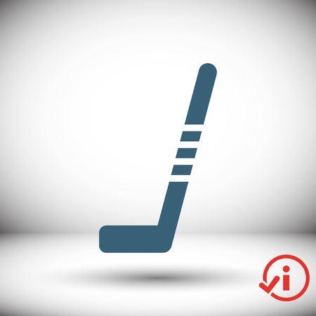 puck: hockey stick icon stock vector illustration flat design