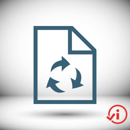 paper recycling icon stock vector illustration flat design