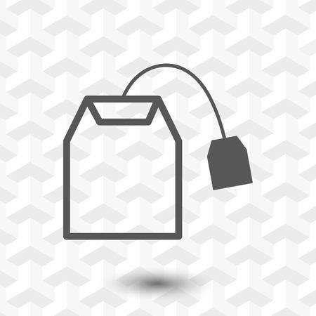 ceylon: tea bag icon stock vector illustration flat design