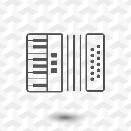 concertina: accordion icon stock vector illustration flat design Illustration